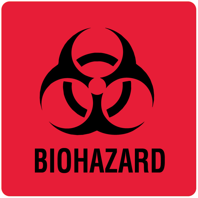 photo relating to Biohazard Sign Printable named Purple, Laminated Biohazard Caution Label, 6\