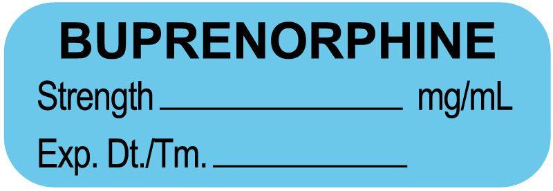 "Anesthesia Label, Buprenorphine mg/mL, 1-1/2"" x 1/2"""