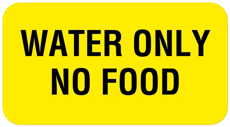 Water Only No Food