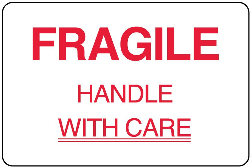 Fragile Shipping Label  X   United Ad Label