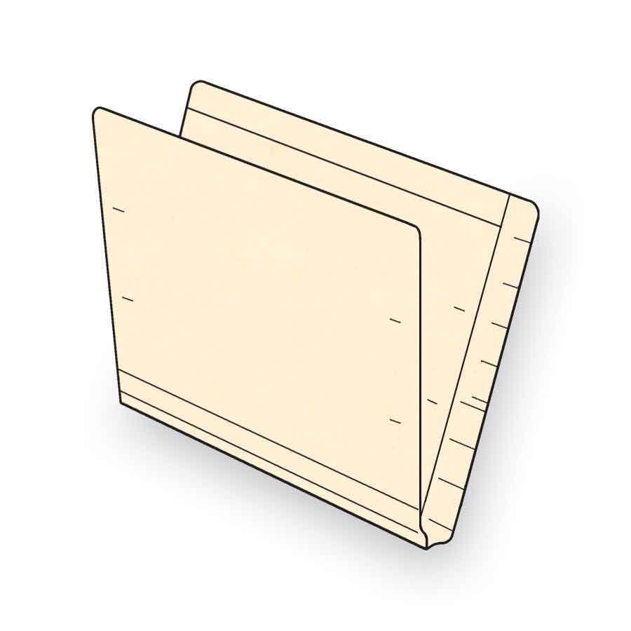 "End Tab File Folders Extended Full Cut, 9-1/2"" x 12-1/4"""