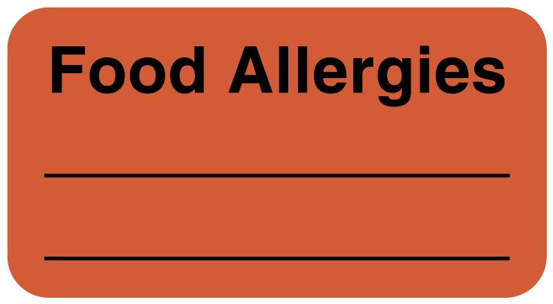 """Allergy Labels, 1-5/8"""" x 7/8"""""""
