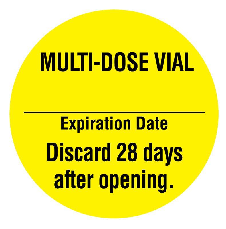 Dating of multidose vials in hospitals