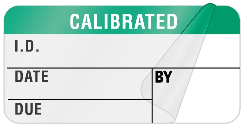 "Calibration Label, 1-1/4"" x 5/16"""