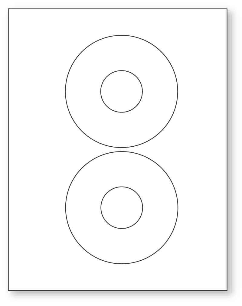 """CD Labels, 8-1/2"""" x 11"""""""