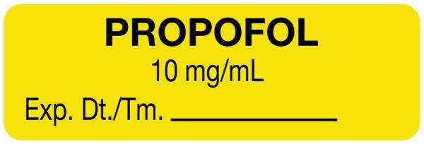 Anesthesia Label, Propofol 10 mg/mL, 1-1/2
