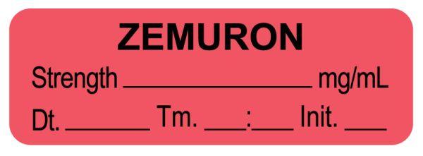 Anesthesia Label,  Zemuron  mg/mL  DTI 1-1/2