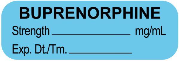 Anesthesia Label, Buprenorphine mg/mL, 1-1/2