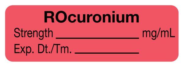 Anesthesia Label, ROcuronium mg/mL, 1-1/2