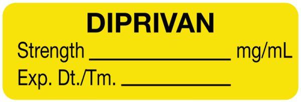 Anesthesia Label, Diprivan mg/mL, 1-1/2