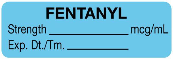 Anesthesia Label, Fentanyl mcg/mL, 1-1/2