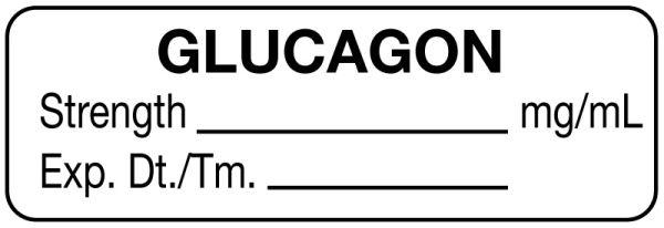 Anesthesia Label, Glucagon mg/mL, 1-1/2