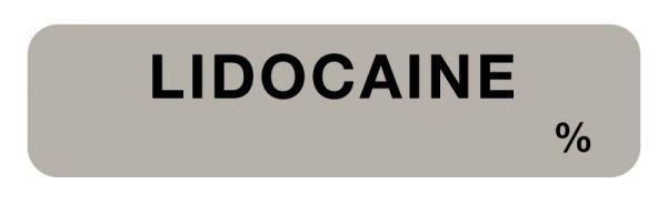 Anesthesia Label, Lidocaine %, 1-1/2