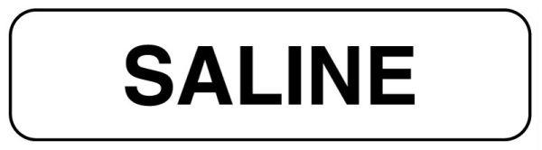 Anesthesia Label, Saline, 1-1/4