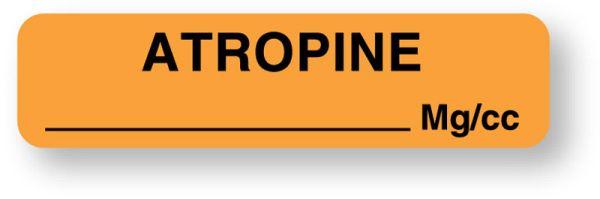 Anesthesia Label, Atropine mg/mL, 1-1/4