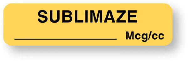 Anesthesia Label, Sublimaze mcg/cc, 1-1/4