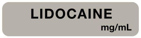 Anesthesia Label, Lidocaine mg/mL, 1-1/2
