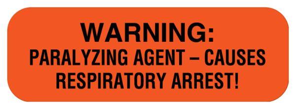Warning Label, 1-1/2