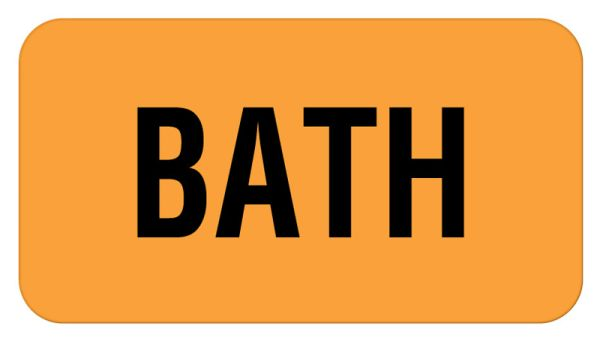 Bath Label, 1-5/8