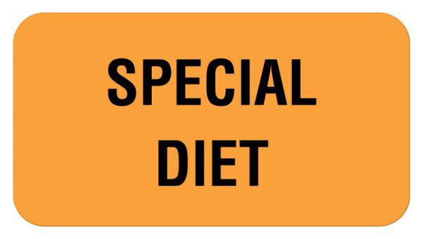 SPECIAL DIET, Communication Label, 1-5/8