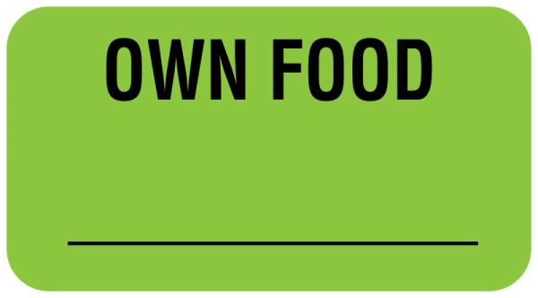OWN FOOD, Communication Label, 1-5/8