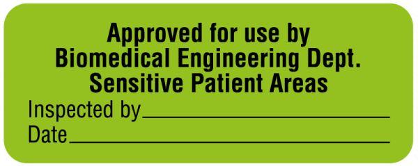 Patient Monitoring Equipment Label, 2-1/4
