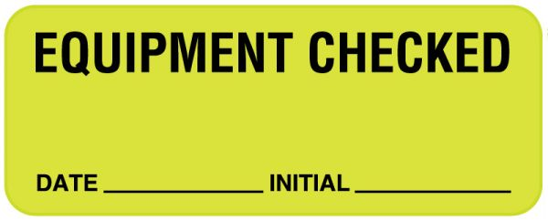 Equipment Checked Label, 2-1/4
