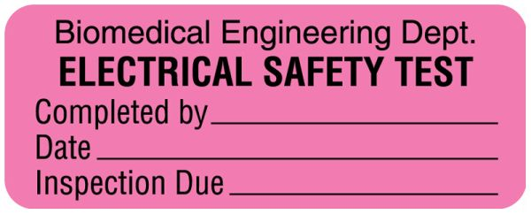 Electrical Equipment Safety Label, 2-1/4