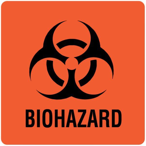 Biohazard Warning Label, 6