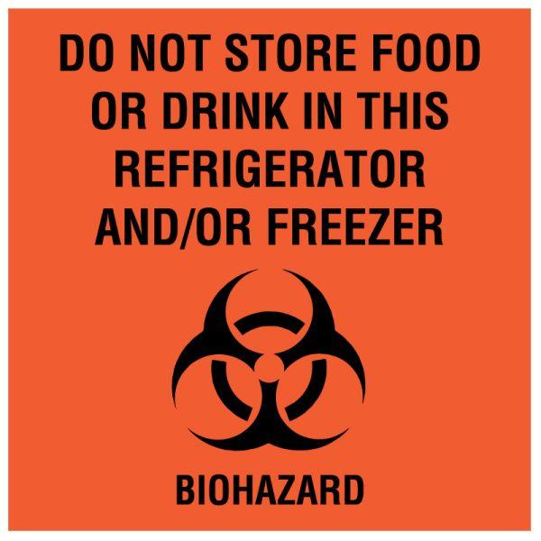 Refrigerator/Freezer Biohazard Label, 4-1/2
