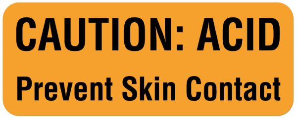 Hazard Warning Label, 2-1/4