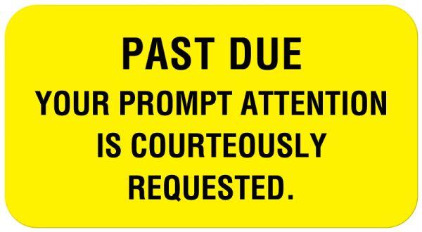 Payment Reminder Label, 1-5/8