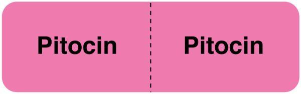 PITOCIN, I.V. Line Identification Label, 3