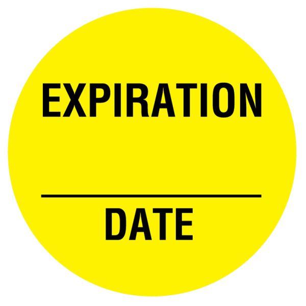Expiration Label, 3/4
