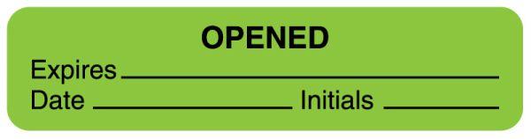 Fluorescent Green Expiration Label, 1-5/8