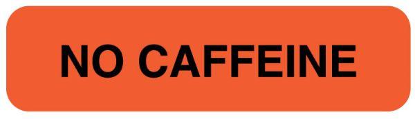 NO CAFFEINE, Nutrition Communication Labels, 1-1/4