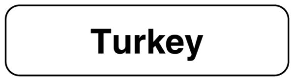 TURKEY, Food Identification Labels, 1-1/4
