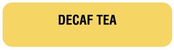 DECAF TEA, Nutrition Communication Labels, 1-1/4