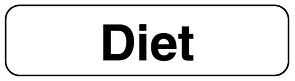 DIET, Beverage Identification Labels, 1-1/4