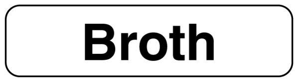 BROTH, Food Identification Labels, 1-1/4