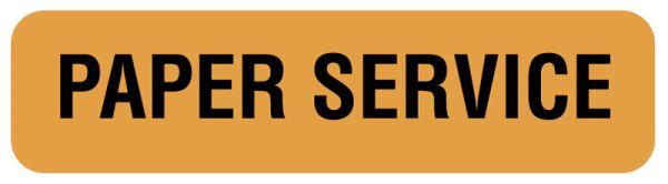 PAPER SERVICE, Nutrition Communication Labels, 1-1/4