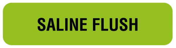 Anesthesia Label, Saline Flush, 1-1/4
