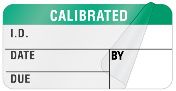 Calibration Label, 1-1/4