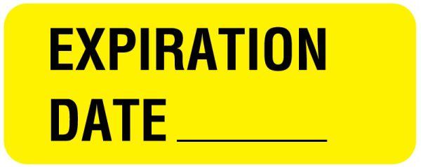 Expiration Label, 2-1/4