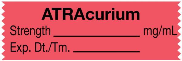 Anesthesia Tape, ATRAcurium mg/mL, 1-1/2