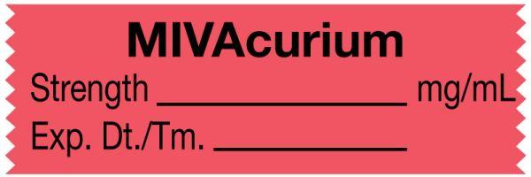 Anesthesia Tape, Mivacurium mg/mL, 1-1/2