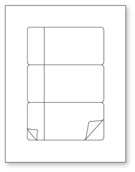 Betacam Sleeve Insert Laser Label, 8-1/2