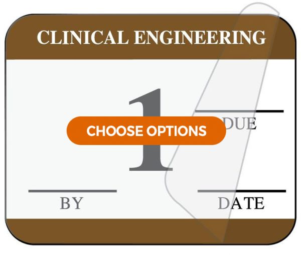 Clinical Engineering Self-Laminating Inspection Labels