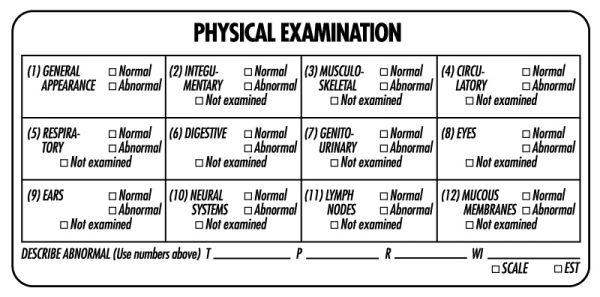 Examination Record Label, 4