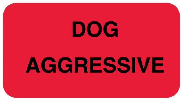Dog Aggressive Communication Label, 1-5/8